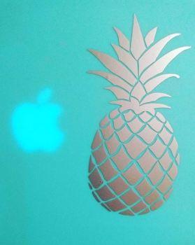 pineapple laptop sticker